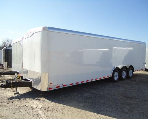 HAULMARK 8.5X28 GR WR4 R VNT WHITE Enclosed Cargo Trailer