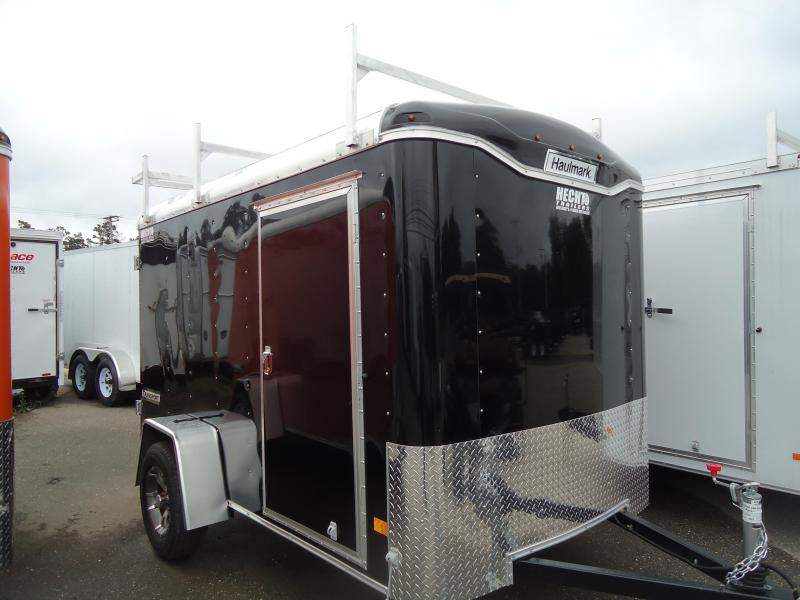 2017 Haulmark 6X10 TST DS2 ROOF VENTLIGHT ALUM WHEELS BLACK Enclosed Cargo Trailer