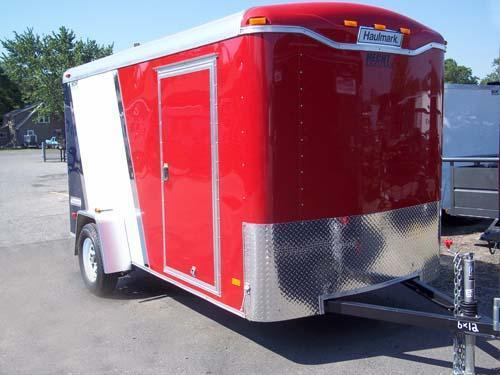 2016 Haulmark 6X12TST DS2 RED WHITE & BLUE Enclosed Cargo Trailer