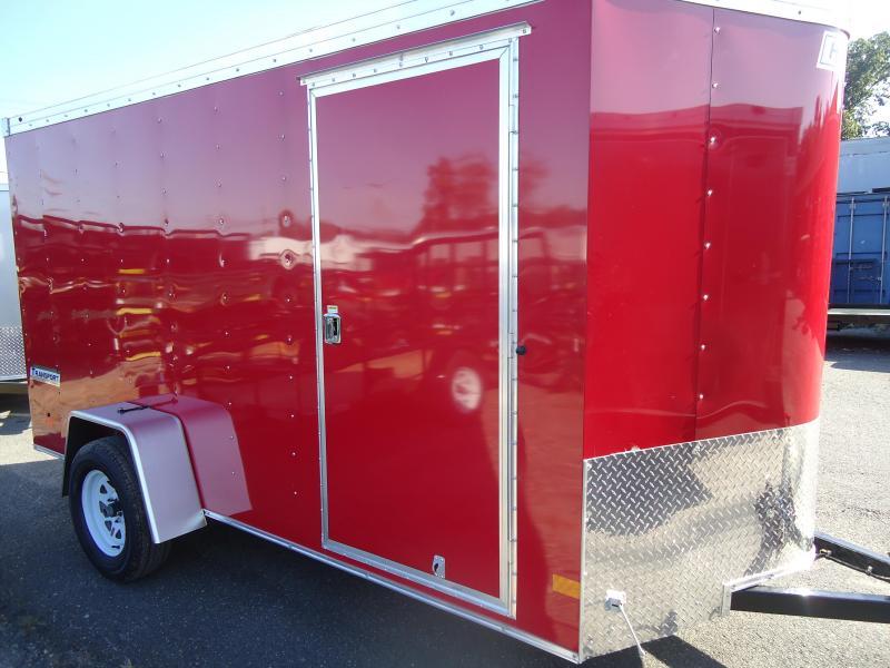 2018 Haulmark 6X12 TSTV DS2 RAMP RED Enclosed Cargo Trailer