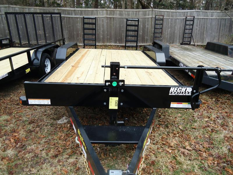 2018 Big Tex Trailers EH 7X16 14ET 16BK KR DT KNEE BLACK Equipment Trailer