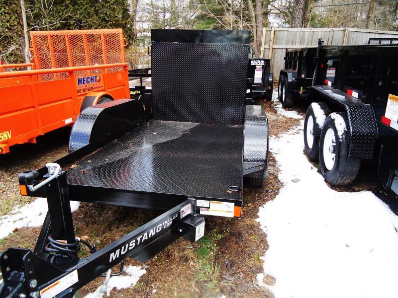 2018 Mustang Trailers UT 5X10 7K STEEL DECK RAMP BLACK Utility Trailer