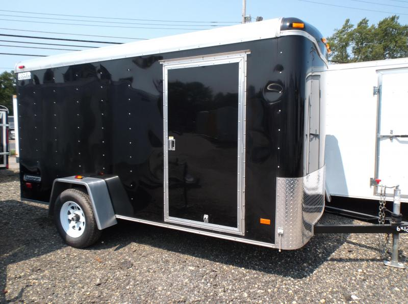 2017 Haulmark 6X10TST DS2 VIPER ALUM WHL LDR RCK VNT BLACK Enclosed Cargo Trailer