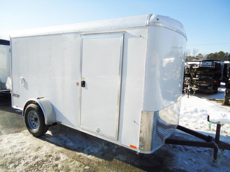 2018 Pace American 6X12 JT SI2 RAMP SVNTS DRNG WHITE Enclosed Cargo Trailer