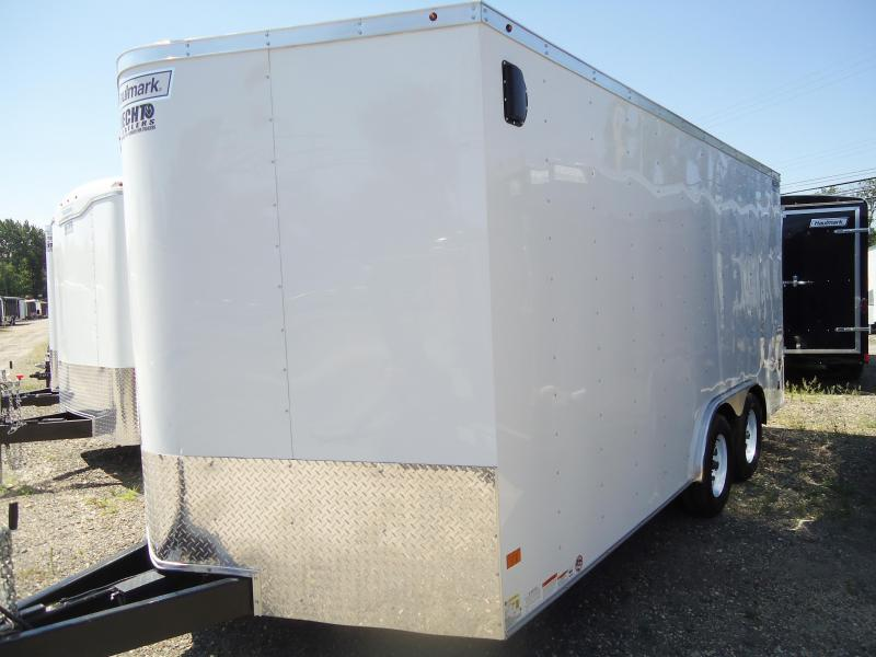 2017 Haulmark 8.5X16 PPT WT2 18TUNG RAMP WHITE Enclosed Cargo Trailer