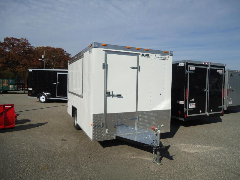 2017 Haulmark 7X12EZ DS2 DISPLAY WHITE Vending / Concession Trailer