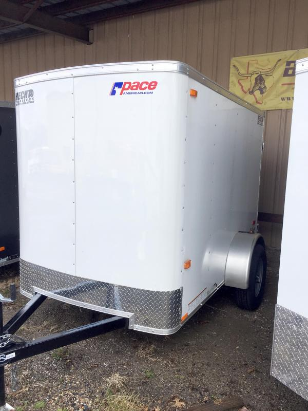 2018 Pace American 5X8 OB SI2 RAMP WHITE Enclosed Cargo Trailer