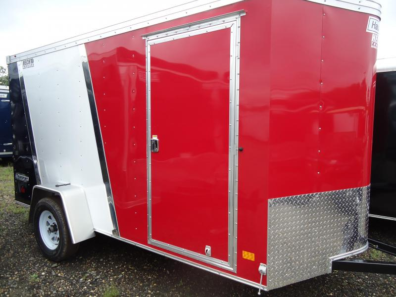 2017 Haulmark 6X12 TSTV LD RAMP RED WHITE BLUE Enclosed Cargo Trailer