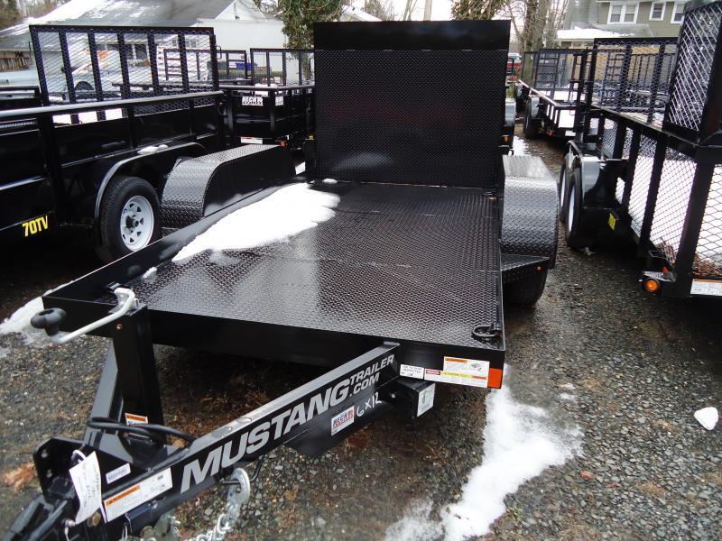 2018 Mustang Trailers UT 6X12 10K STEEL DECK RAMP BLACK Utility Trailer