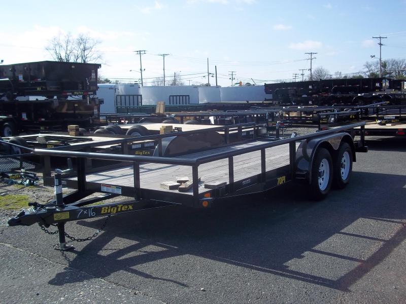 2017 Big Tex Trailers UT-7X16 70PI-16XBK4RG Utility Trailer