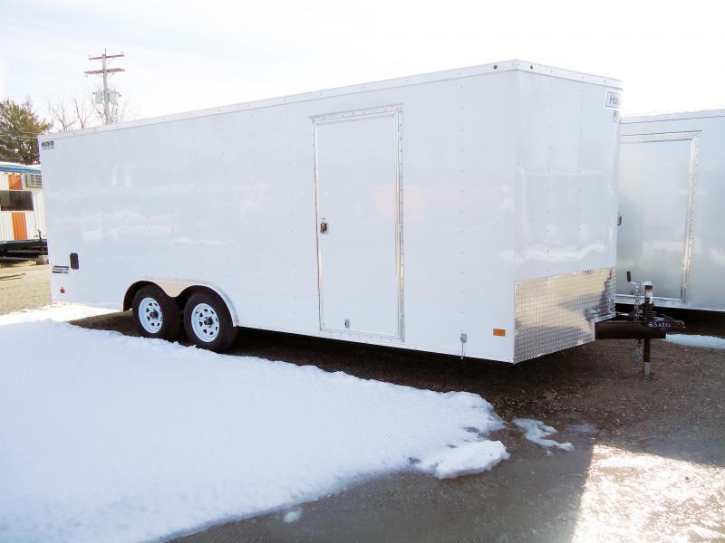 2018 Haulmark 8.5X20 PPT WT2 WHITE Enclosed Cargo Trailer