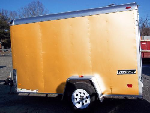 HAULMARK 6X10TST DS2 LD Ramp Orange Enclosed Cargo Trailer