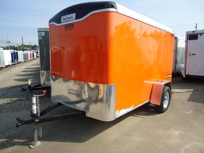 HAULMARK 6X10TST DS2 LD Ramp Orange Enclosed Cargo Trailer