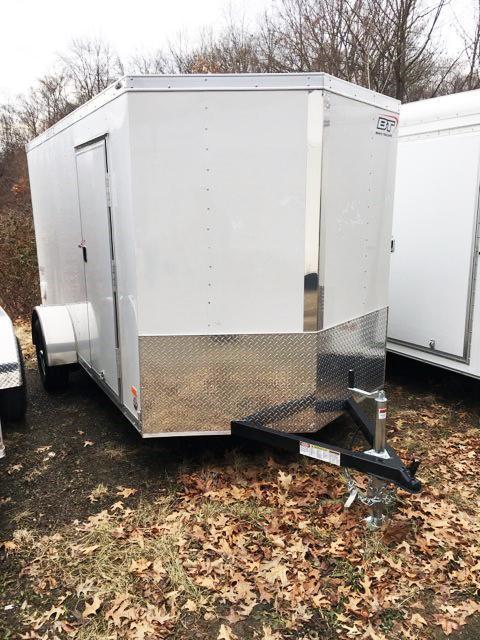 2018 Bravo Trailers 6X12 ST SA V RAMP APP WHITE Enclosed Cargo Trailer