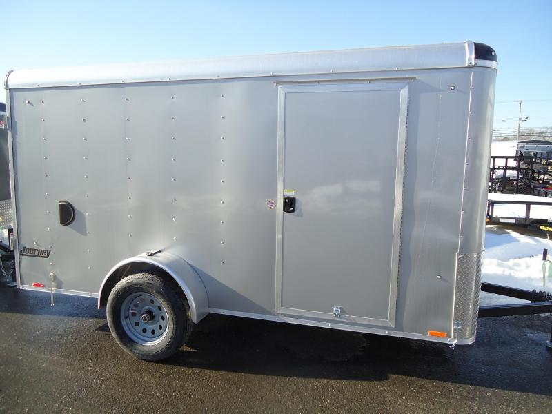 2018 Pace American 6X12 JT SI2 SVNTS SILVER Enclosed Cargo Trailer
