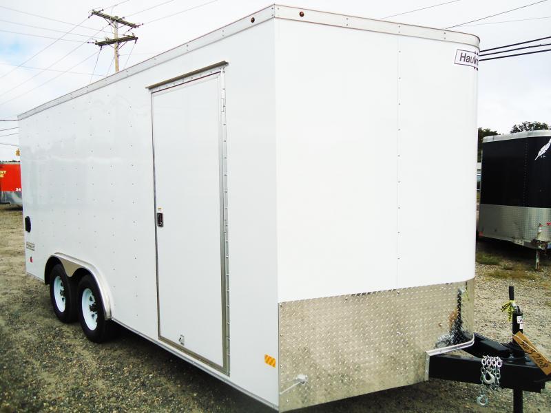2018 Haulmark 8.5X16 PPT WT2 RAMP WHITE Enclosed Cargo Trailer