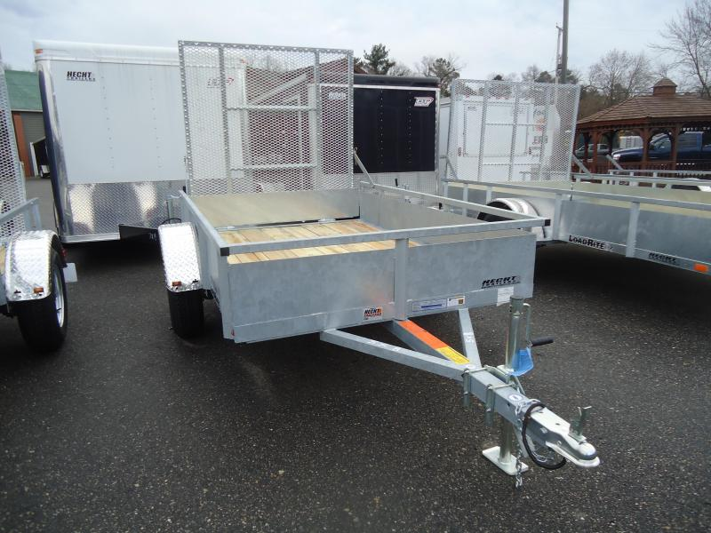 2016 Load Rite UT-5X10 HW WOOD SIDES GATE SPARE WHITE Utility Trailer