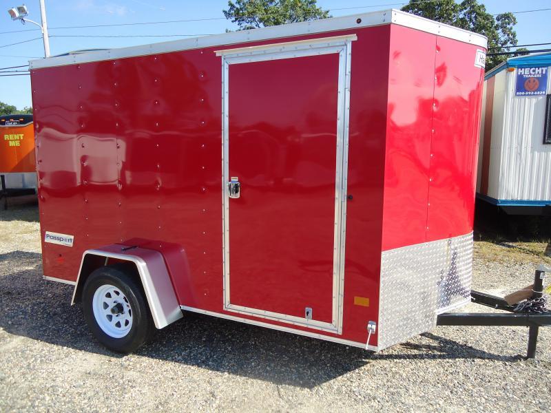 2018 Haulmark 6X10 PPT DS2 RAMP RED Enclosed Cargo Trailer