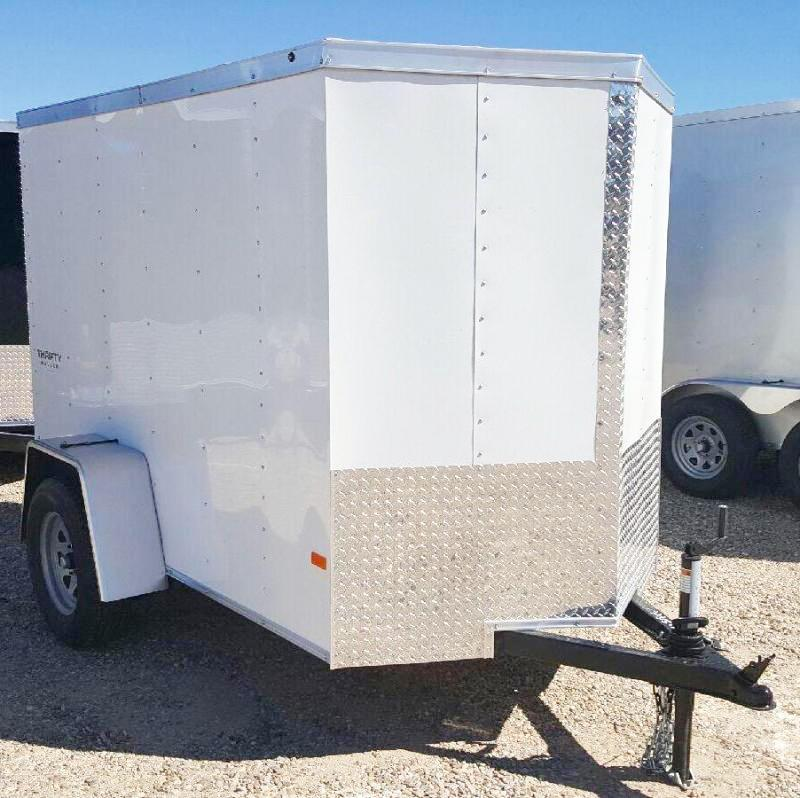 2017 Haulmark 5X8TH DS2 RAMP WHITE Enclosed Cargo Trailer