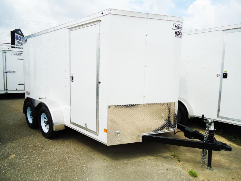 2017 Haulmark 7X12 PPT DT2 RAMP WHITE Enclosed Cargo Trailer
