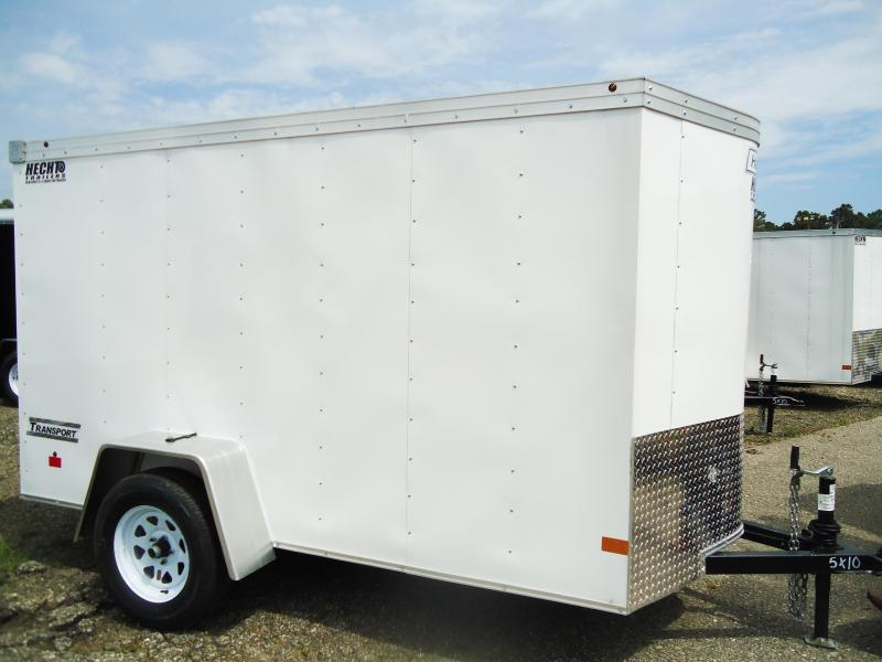 2018 Haulmark 5X10 TSTV DS2 LD RAMP WHITE Enclosed Cargo Trailer