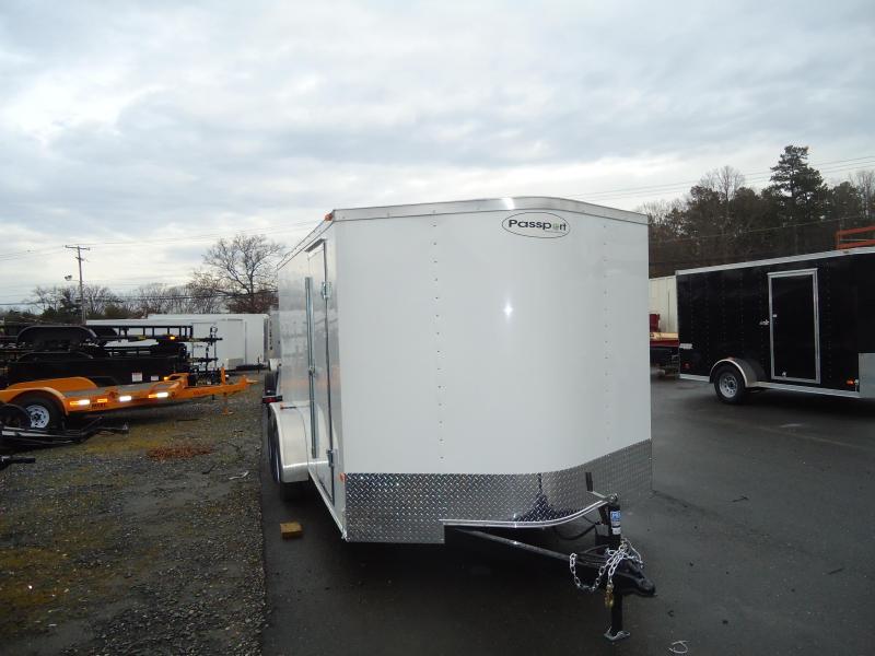 2017 Haulmark 7X16PPT DT2 RAMP DRNG LX PKG WHITE Enclosed Cargo Trailer