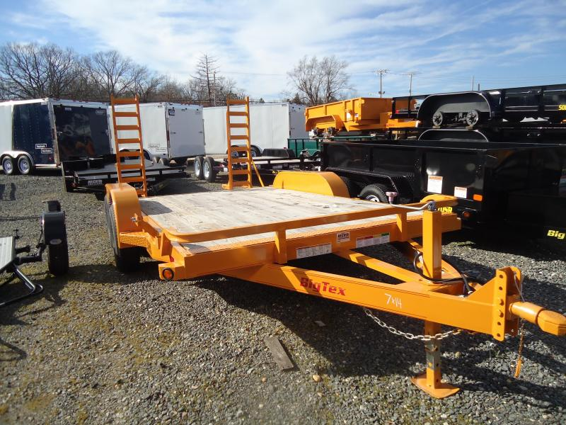 2016 Big Tex Trailers EH-7X18 14ET-18KRYE KNEE RAMP DOVE TAIL Equipment Trailer
