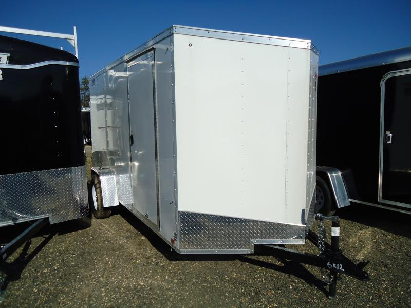 2017 Pace American 6X12OB SI2 DLX RAMP WHITE Enclosed Cargo Trailer