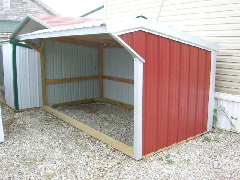 6x12 Wood Frame Mini Loafing Shed
