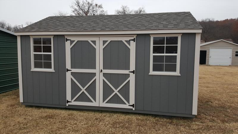 12x16 Garden Shed. 2 windows, built on 16 inch centers and sheeted in