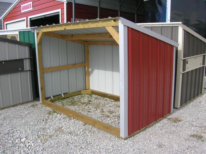 5x8 wood frame mini loafing shed garages barns for Small portable shed