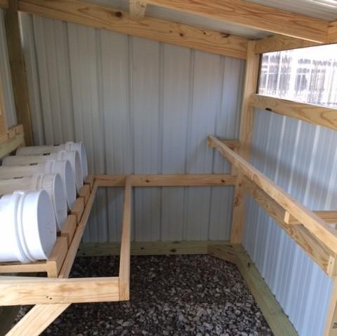 6x12 Deluxe Loafing Shed Chicken Coop