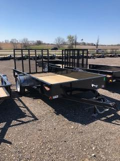 2019 H&H Trailers 76X12 Steel Solid Side 3.5k Single Axle Utility