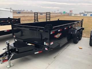 2020 H and H Trailers 83x16 DBW Dump Box 7k Tandem Axle Trailer