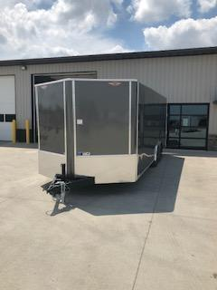 2020 H and H Trailers 101X20 Charcoal Enclosed V-Nose 5.2k Tandem Axle Car Hauler