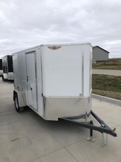 2019 H&H Trailers 5x10 Cargo White Flat Top Single Axle