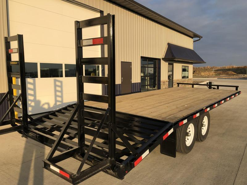 "2020 H and H 102""x18' Deckover 7k Tandem Axle Equipment Trailer"