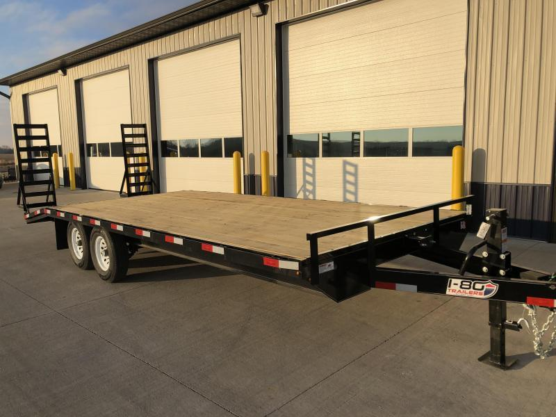 "2019 H and H 102""x18' Deckover 7k Tandem Axle Equipment Trailer"