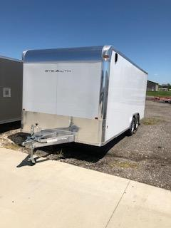 2019 CargoPro Trailers 8x20 White 5.2k Tandem Axle Flat Nose Car / Racing Trailer