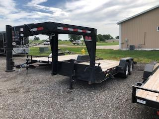 USED 2019 B-B Trailers 8.5x16+4 Gravity Tilt Gooseneck With 4' Stationary Deck