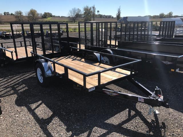 2020 H and H Trailers 76X12 Steel Rail Side Single Axle Utility