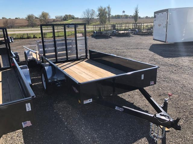 2019 H&H Trailers 76x10 Utility Solid Side Single Axle