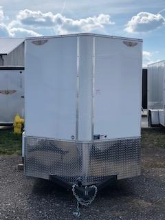 2020 H and H Trailers 6x12 Cargo White Flat Top V-Nose Single Axle