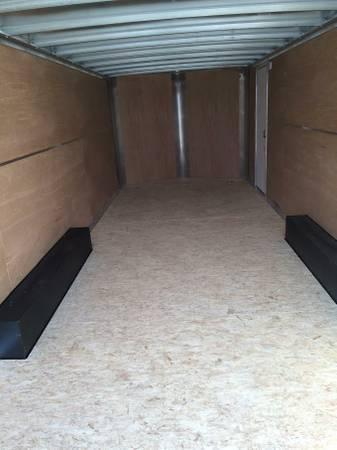 2020 H and H Trailers 101x24 White Enclosed Car Hauler V-nose Tandem Axle