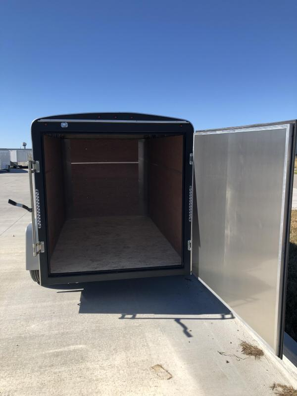 2019 H&H Trailers 5x8 Cargo White Round Top Single Axle