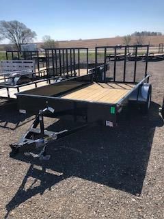 2020 H and H Trailers 82x14 Steel Solid Side Single Axle Utility Trailer
