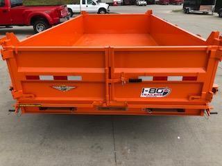"2020 H and H Trailers 83""x14' Orange DBW Dump Box Tandem Axle"