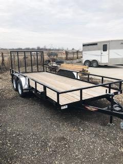 2019 H&H Trailers 82X18 Steel Rail Side 3.5k Tandem Axle Utility Trailer
