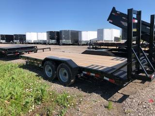 "2020 H and H Trailers 82""x18+2' Industrial Flatbed 8k Tandem Axles"