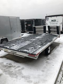 "2015 Used H&H 101""x12'  2 Place Snowmobile Trailer"